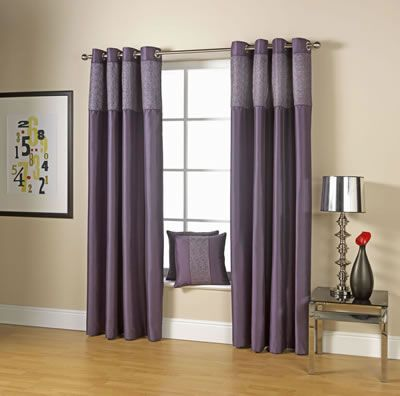 Perfect way to change the look of your room -Space Modern Eyelet Curtains