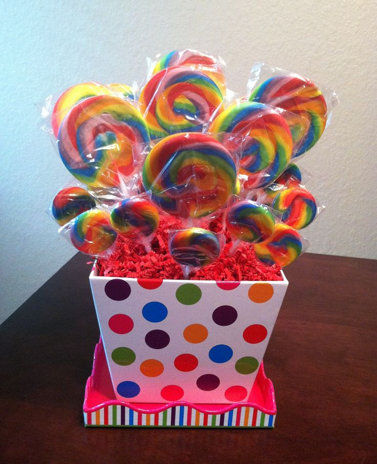 Rainbow Sucker Bouquet - Carnival Party