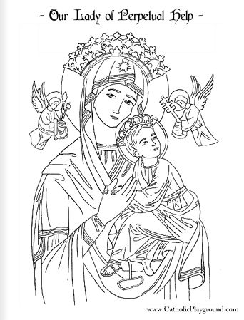 Our Lady of Perpetual Help coloring page: June 27th |