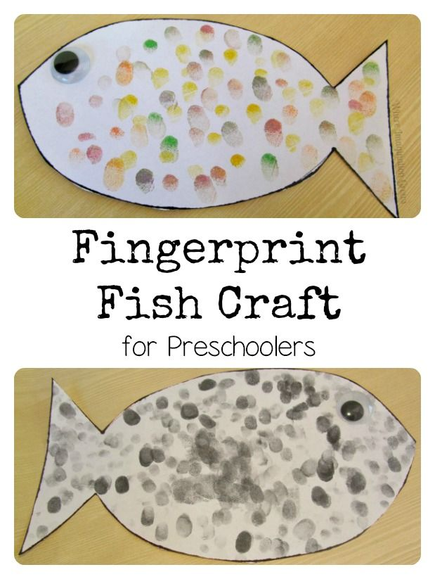Fingerprint Fish Craft for Preschoolers