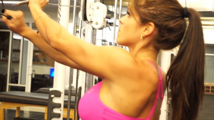 MICHELLE LEWIN Workout - Shoulder Workout with Cables Only