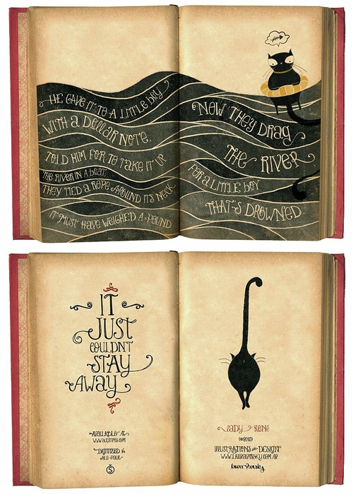 Fun typography in book of poetry.