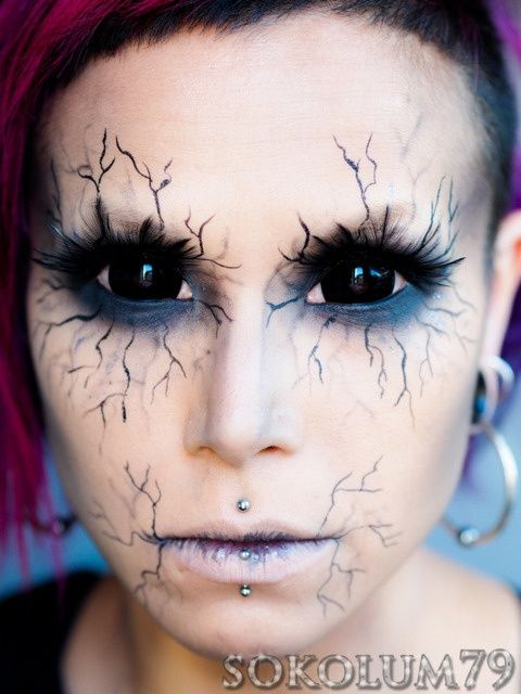 Angel of Death (Tutorial) #Halloween #Halloween make-up ~ seriously makes me think of the way the demons look as Sam is exorcising them to their final deaths. So cool! Great Halloween make up