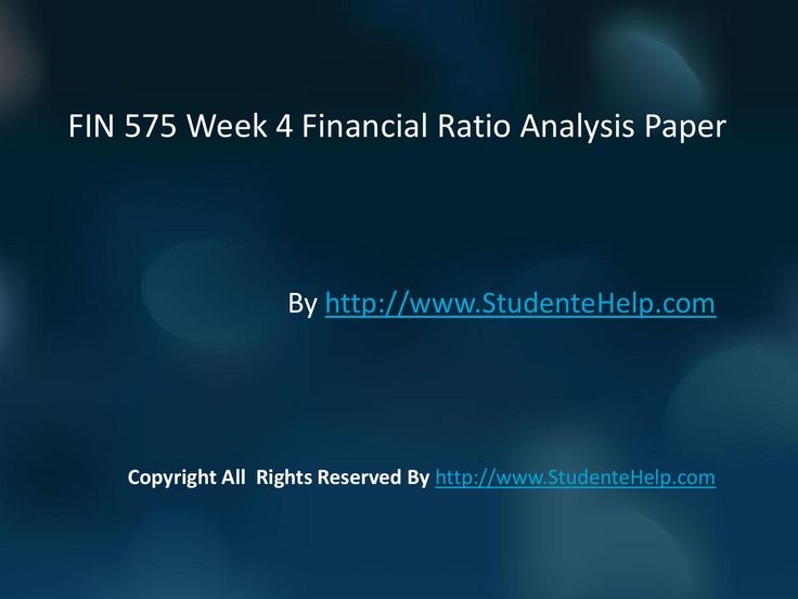 There is also an added advantage to the FIN 575 Week 4 Financial Ratio Analysis Paper. We have prepared an exclusive section for the students, which contain answers to some of the questions as examples. FIN 575 Week 4 Financial Ratio Analysis Paper