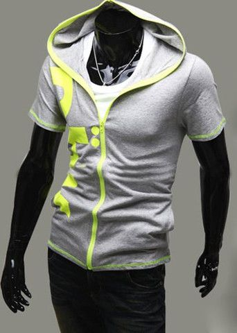 Summer Style Slimming Letters Print Short Sleeves Cotton Hoodies For M – teeteecee - fashion in style