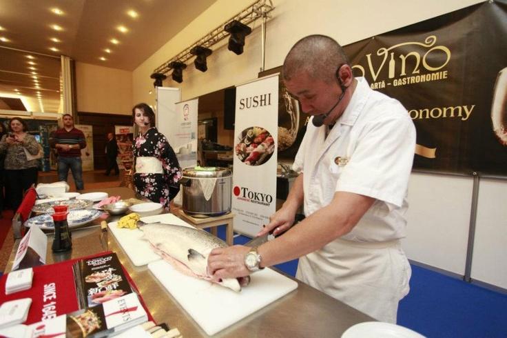 Sushi show at PROVINO Cluj 2012