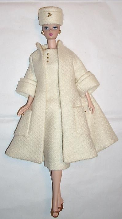 Cashmere coat & dress ensemble for Silkstone Barbie