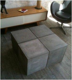1000 id es sur le th me table carr e avec rallonge sur for Table basse aspect beton