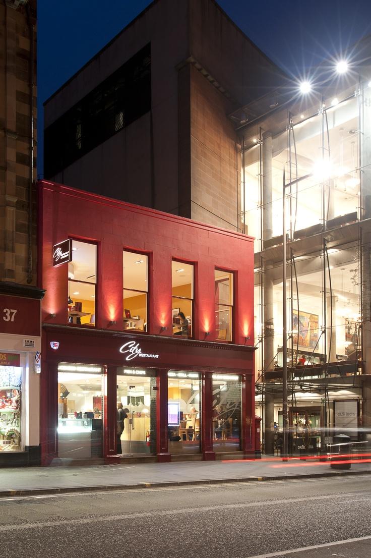 Fancy restaurant exterior - City Restaurant Exterior