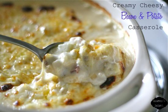 Creamy Cheesy Bacon and Potato Casserole {aka Funeral Potatoes}