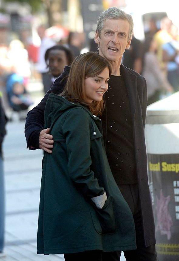 Doctor Who script, Doctor Who TV series, Peter Capaldi, Jenna Coleman, Peter Capaldi hug