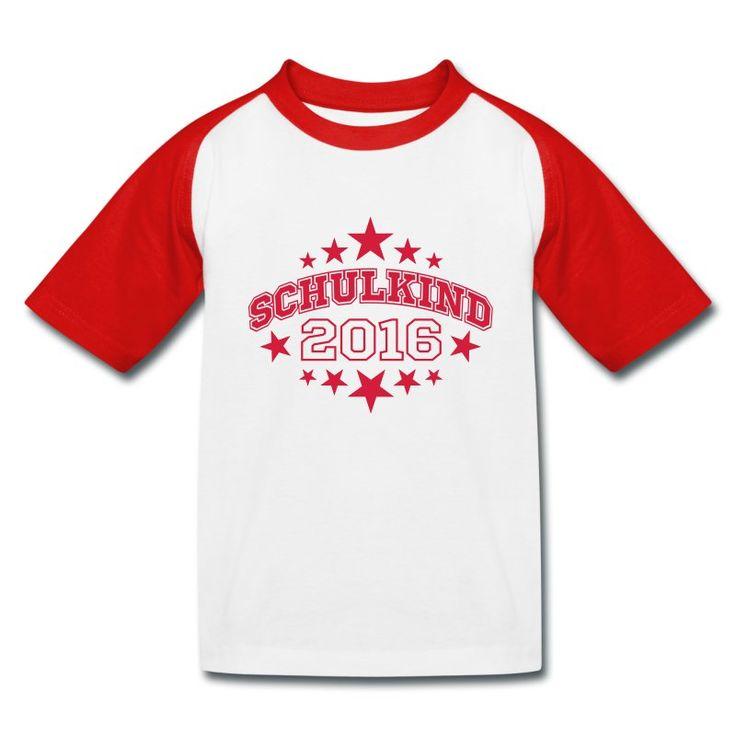 *EINSCHULUNG. Ein schönes Geschenk für den kleinen Schulanfänger: T-Shirt mit dem Motiv Schulkind 2016 (online bestellbar) http://shop.spreadshirt.de/Einschulung