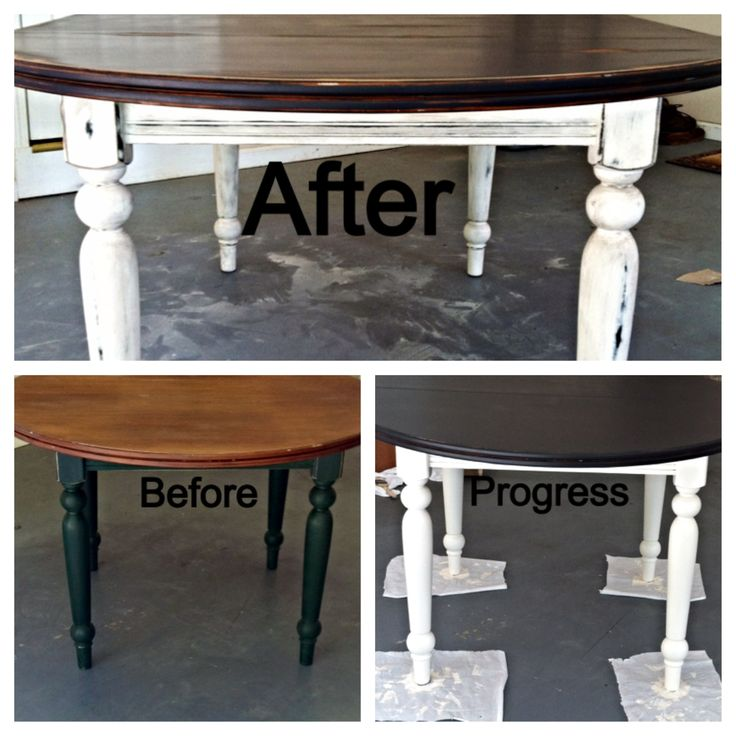 I Refurbed This 20 Year Old Oval Table With A Hand Sanded Crafted Ultra Distressed Antique Finish