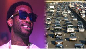 Gucci Mane Stops Atlanta Traffic to Save a Puppy Crossing the Street - Blooper News - News by you for you!™