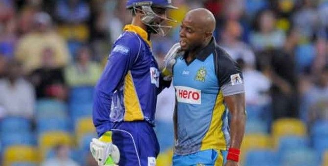 Shoaib Malik,Tino Best fined over CPL altercation