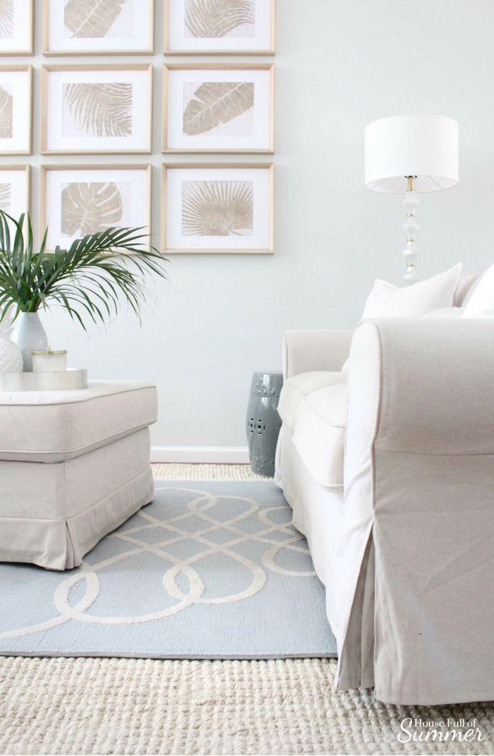 serene coastal chic living room decor house full of summer gallery rh pinterest com