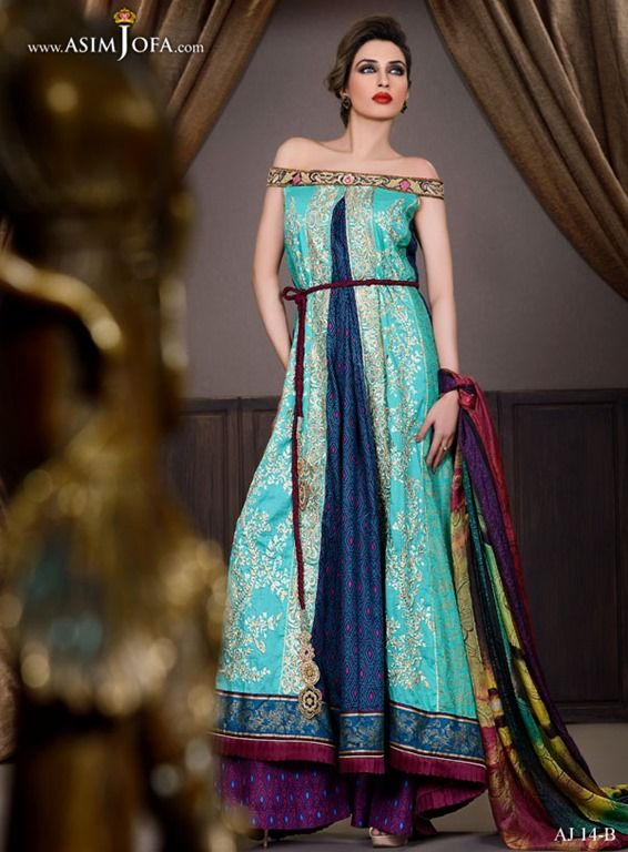 gown ,pakistani fasion ,pakistani dresses,blue ,dress,open shirt,long shirt,