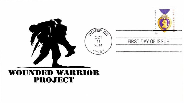 2014 Purple Heart Wounded Warrior Project First Day Cover - 100% Donation