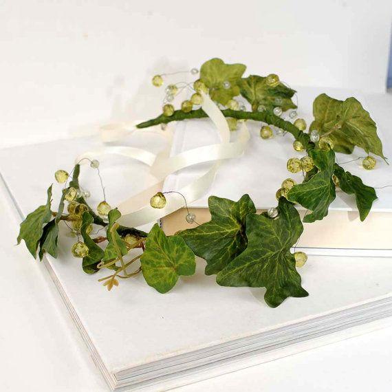 Bohemian Crown, Ivy Leaf Headband, Woodland Wreath, Headpiece, Hair Piece, Medieval Festival, Nymph, Forest Wedding, Green Leaf Headdress