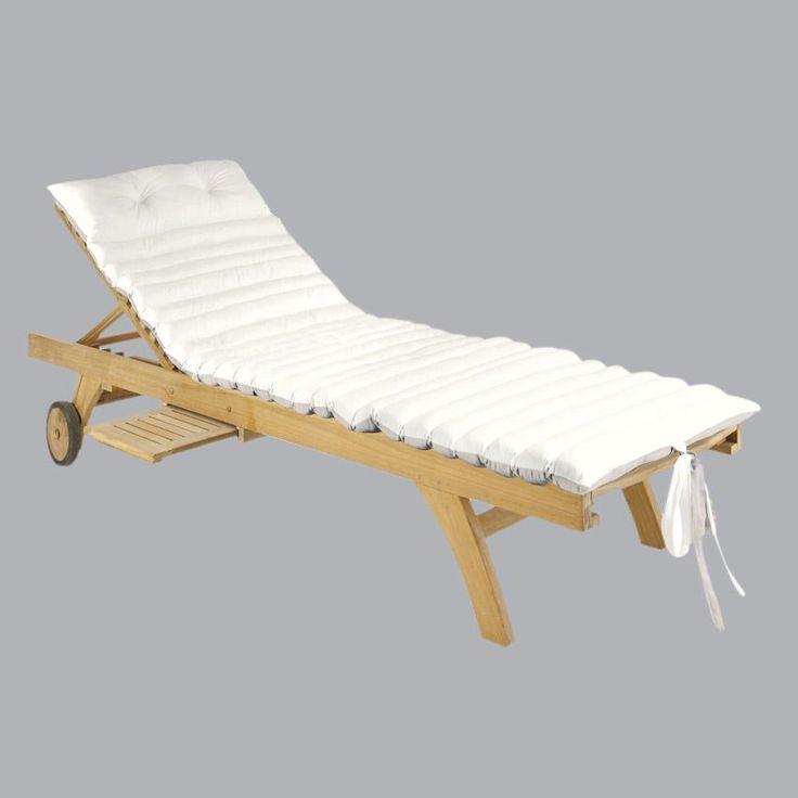 Coussin bain de soleil Duo - Lin/écru : choisissez parmi tous nos produits Coussin de bain de soleil
