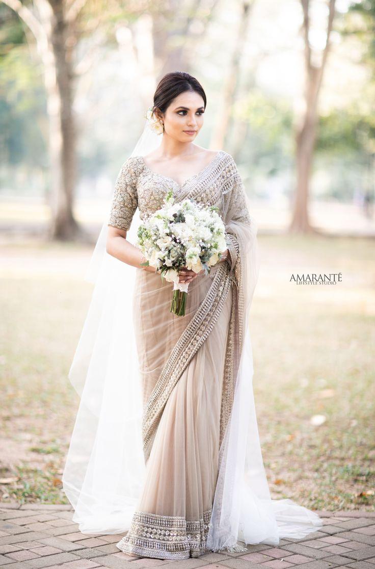 Sri Lanka Bridal Saree | Christian wedding sarees, Sabyasachi bridal, Kerala wedding saree