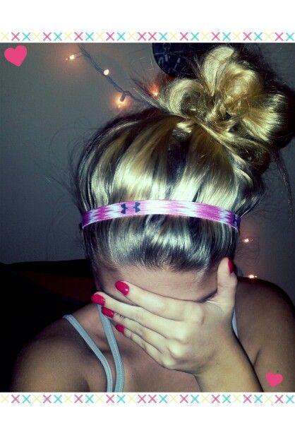 Upsidown French braid, French braid, sock bun, high bun ...  |Athletic Hair Buns