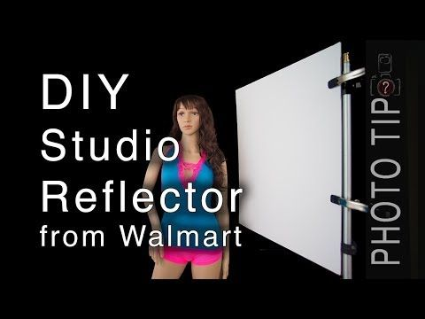 This is great I have been using Walmart reflectors for a long time now!DIY Photography Reflector from Walmart - YouTube
