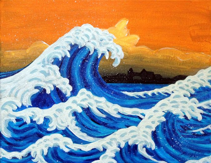 Making Waves (With Images) Wave Painting, Easy Canvas Painting