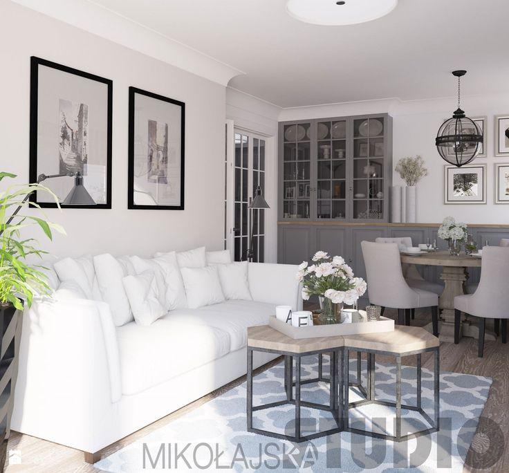 salon w stylu nowojorskim - zdjęcie od MIKOŁAJSKAstudio - Salon - Styl…