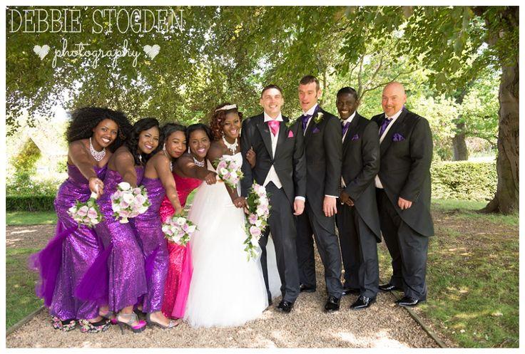 Wedding Party at Gisborough Hall Hotel #GisboroughHall #Wedding #Guisborough #Purple #Bridesmaids #Vibrant