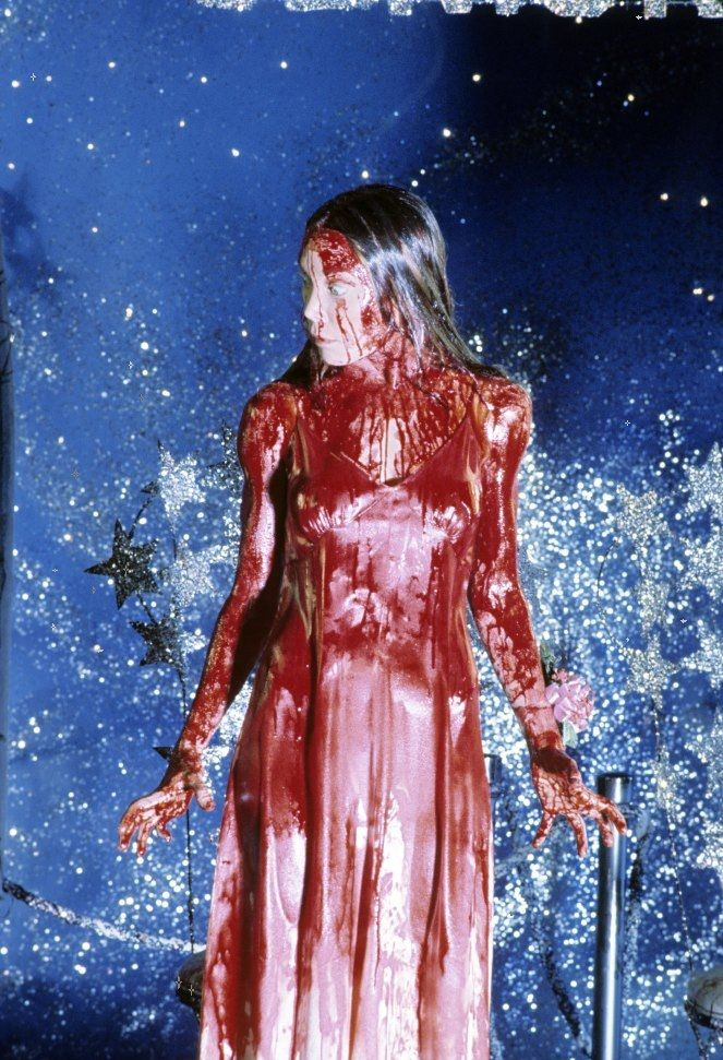 Blood shower now. Psych powers out of control next.Carrie. '76.