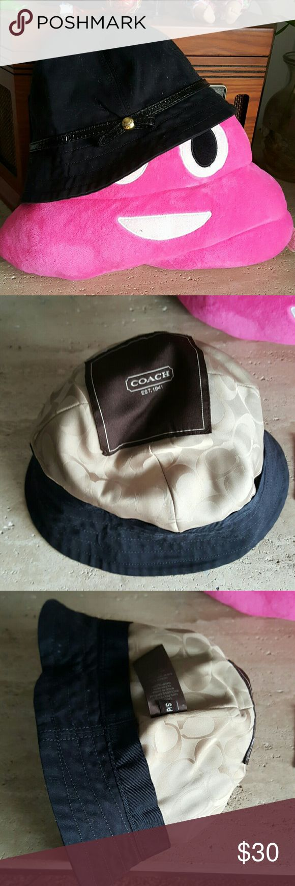 Coach hat Excellent used condition  This must have item needs to be cleaned up Coach Accessories Hats