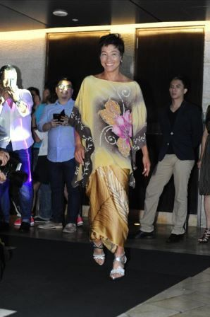 Kimiko Date-Krumm at the 2014 BMW Malaysian Open players party.