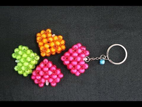 How To Make Crystal Beaded Keychain Valentine S Day Gift