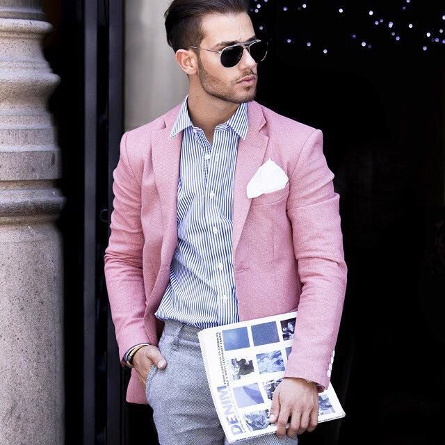 120 best Men's Fashion: Pink images on Pinterest