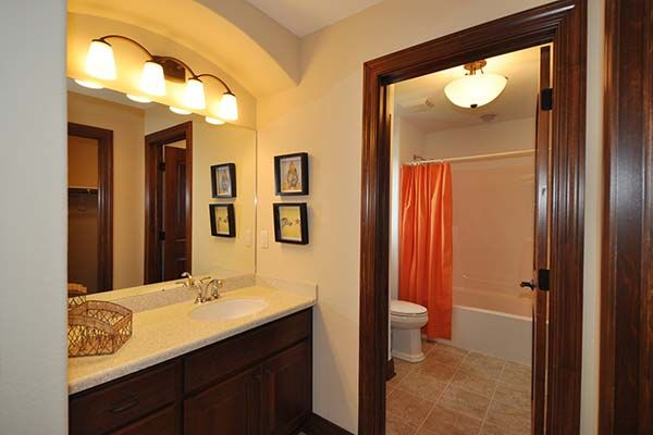 Ashland - Victory Homes of Wisconsin, Inc. Vanity area for shared bath - Bedroom 3
