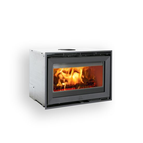 Jøtul C 24: The Jøtul C 24 cassette offers one of the world's largest views to the fire, compared to the size of the cassette. The clean design makes it suitable for any interior style.  The burn chamber itself is surrounded by a convection box, making it ideal for transforming old, open fireplaces into modern and efficient closed combustion systems, whilst respecting the need to still have a great view to the fire.