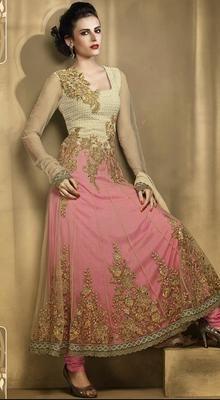 Alluring Deep Rose Pink Asian Wedding DressIndian