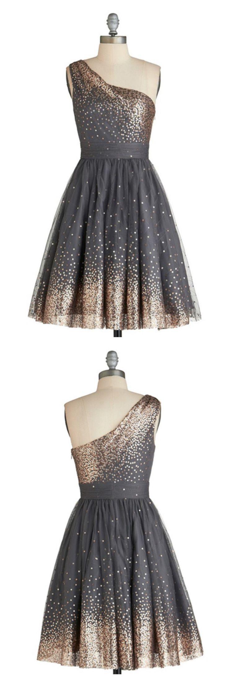 one shoulder homecoming dresses, sequins homecoming dresses,knee length homecoming dresses,prom dresses, cocktail dresses #SIMIBridal #homecomingdresses
