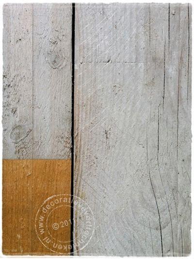 White washen van hout,hoe maak je van nieuw hout Steigerhout