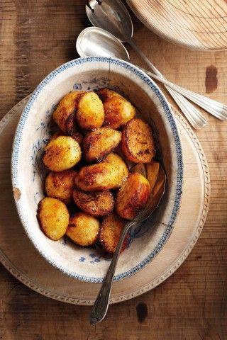 Geroosterde paprika-aartappels Stap vir Stap