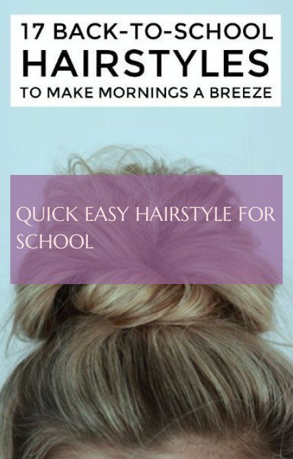 quick easy hairstyle for school #quick #easy #hairstyle #school