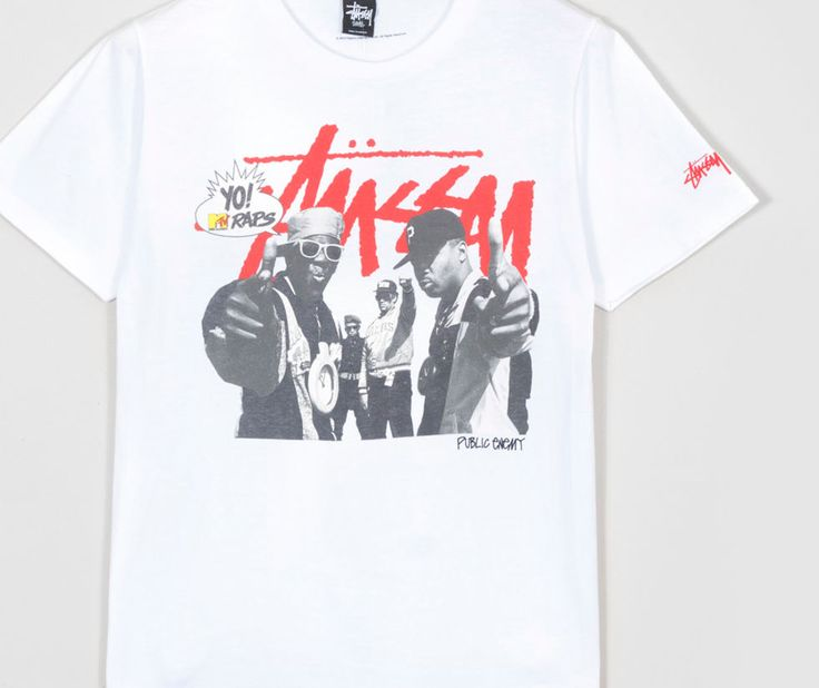 Buy  Stussy x Yo! MTV Raps Public Enemy T-Shirt - Mens Fashion Online at Size?