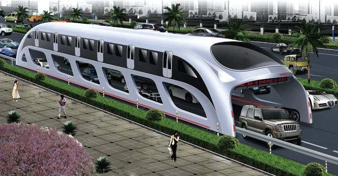 Insane Traffic-Straddling Bus May Come to America | Inhabitat - Sustainable Design Innovation, Eco Architecture, Green Building