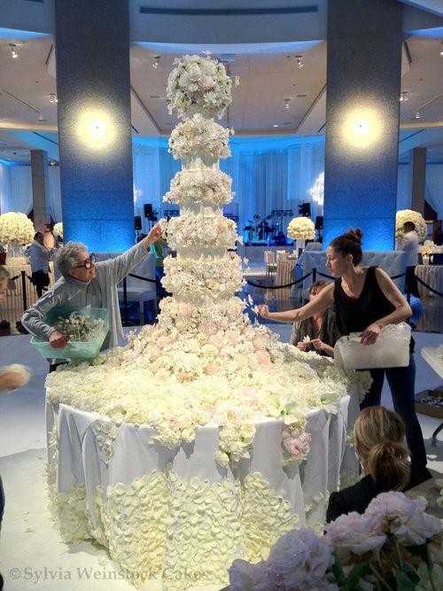 7 tier wedding cake by Sylvia Weinstock Cakes