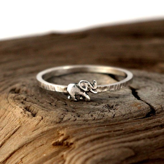Elephant ring sterling silver. Tiny sterling silver by Jevellyn