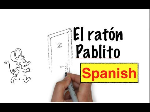 El ratón Pablito is a short video/illustrated story that first year Spanish students can easily grasp. Some of the structures used are: ¡Qué vergüenza! abre, cierra, encima de...
