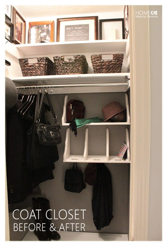 Best 25+ Small Coat Closet Ideas On Pinterest | Garage Entry, Hall Closet  Organization And Small Closet Storage
