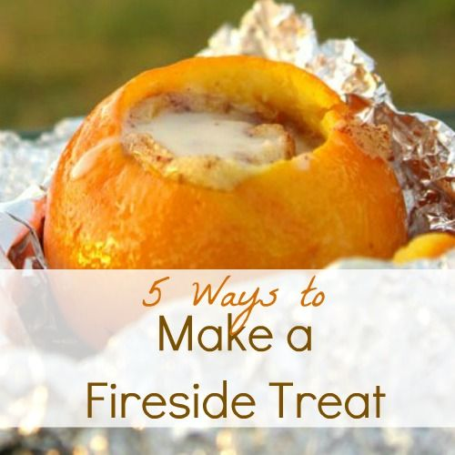 Infarrantly Creative thinks outside of the marshmallow...sharing 5 delicious fireside treats from around the blogosphere.