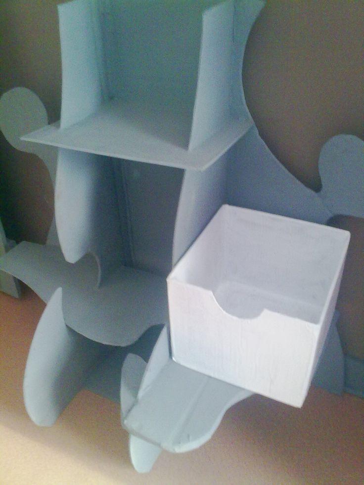 meuble puzzle en carton